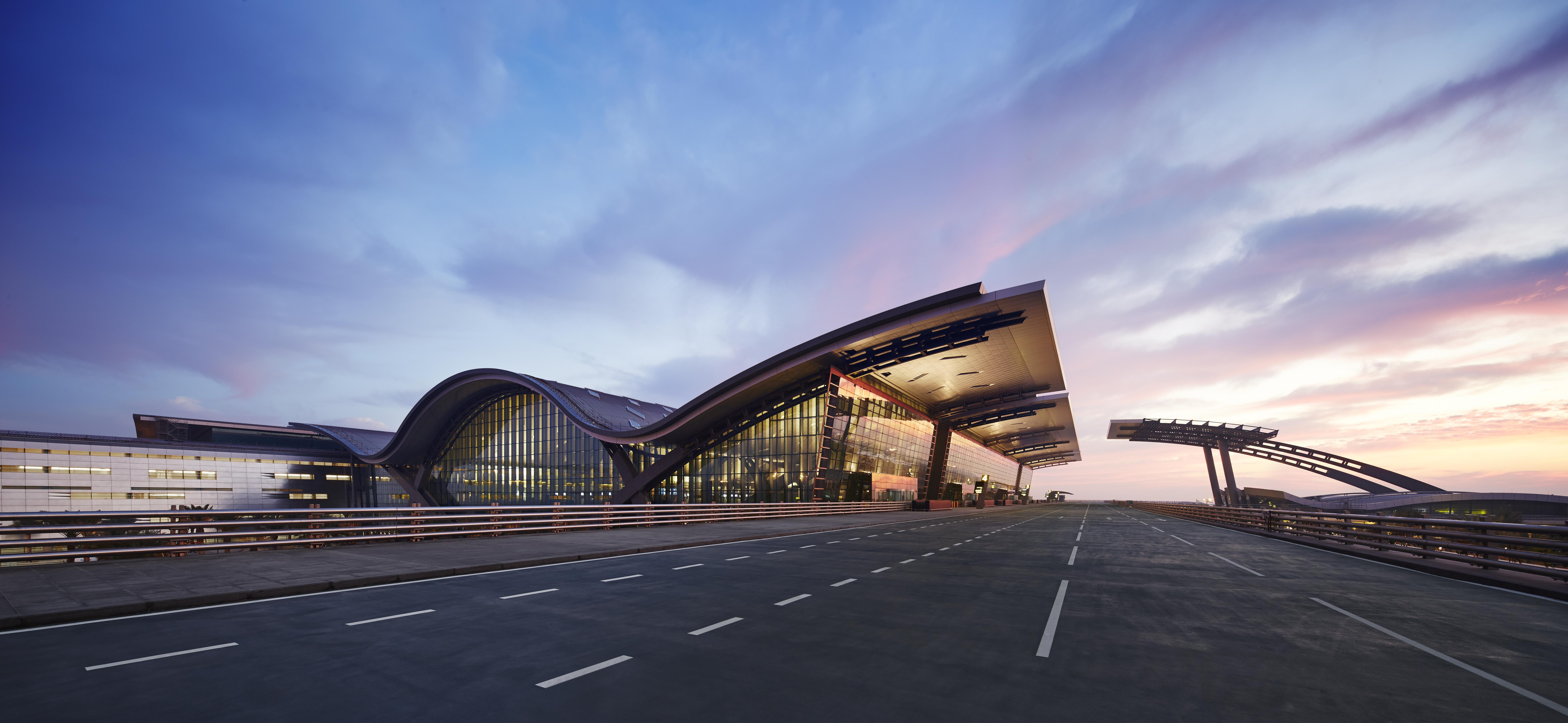 HIA-Doha-Passenger-Terminal-At-Sunset