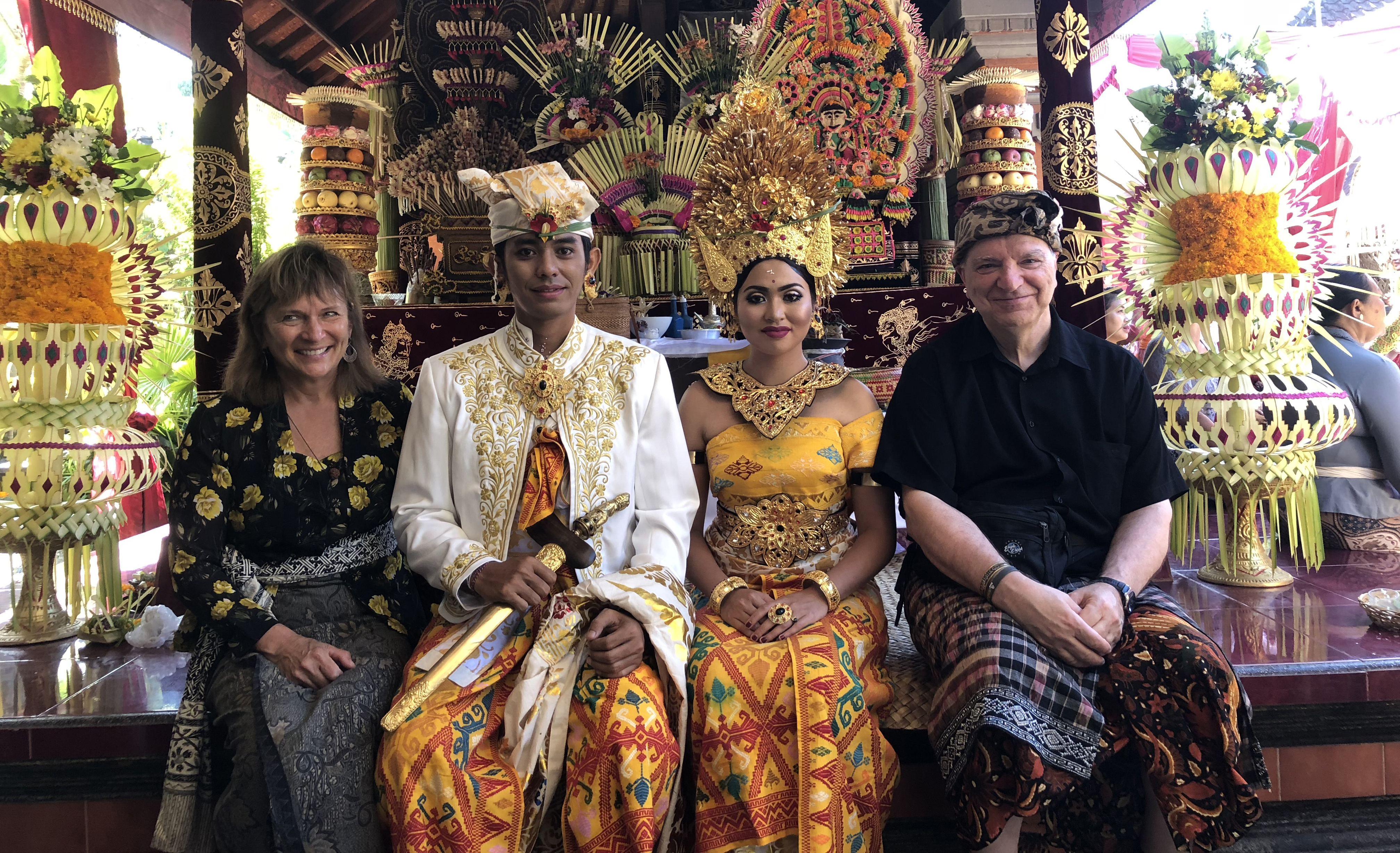 Frances and Bob at a Balinese Wedding*